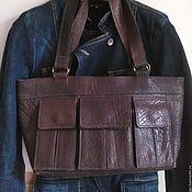 Сумки винтажные ручной работы. Ярмарка Мастеров - ручная работа Сумка кожаная итальянская. Handmade.