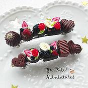 """Украшения ручной работы. Ярмарка Мастеров - ручная работа Заколка-Автомат """"Chocolates & Berry"""". Handmade."""