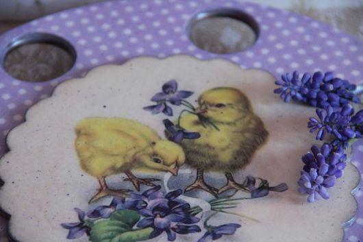 """Корзины, коробы ручной работы. Ярмарка Мастеров - ручная работа. Купить Подставка для яиц """"Цыплята"""". Handmade. Подставка, пасхальный сувенир"""