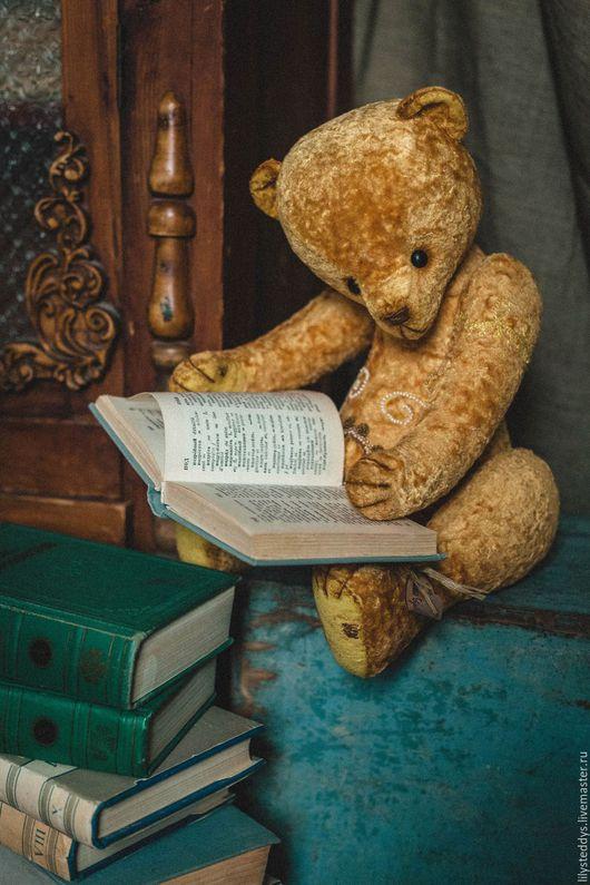 Мишки Тедди ручной работы. Ярмарка Мастеров - ручная работа. Купить Интерьерный жёлтый медведь. Handmade. Желтый, интерьерное украшение