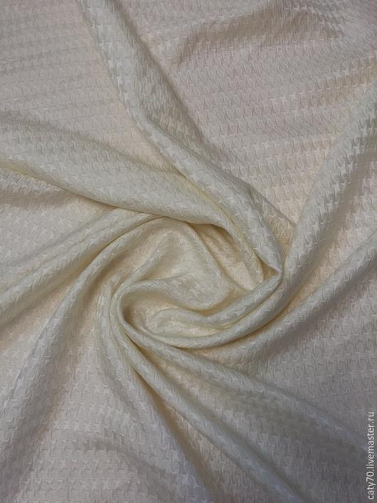 Шитье ручной работы. Ярмарка Мастеров - ручная работа. Купить Матлассе, линия Armani (шелк+шерсть). Handmade. Белый, матлассе