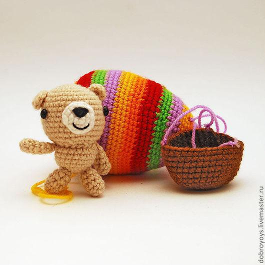 Игрушки животные, ручной работы. Ярмарка Мастеров - ручная работа. Купить Мишка на воздушном шаре. Handmade. Мишка, вязаная игрушка