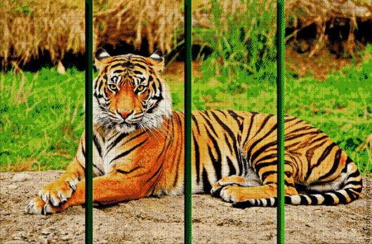 тигр - символизирует силу и мощь. Защитник от злых духов.