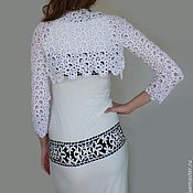 Одежда handmade. Livemaster - original item White lace Bolero knitted