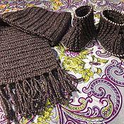 Пинетки ручной работы. Ярмарка Мастеров - ручная работа Детский вязаный шарф с пинетками. Handmade.