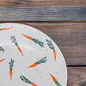 Посуда handmade. Livemaster - original item A plate of carrots, hand made ceramics. Handmade.