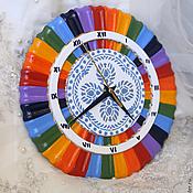 Для дома и интерьера ручной работы. Ярмарка Мастеров - ручная работа Часы Радуга. Handmade.