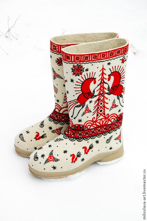 """Обувь ручной работы. Ярмарка Мастеров - ручная работа. Купить Валенки """"Мезень"""". Handmade. Валенки, дизайнерские валенки, подарок на новый год"""