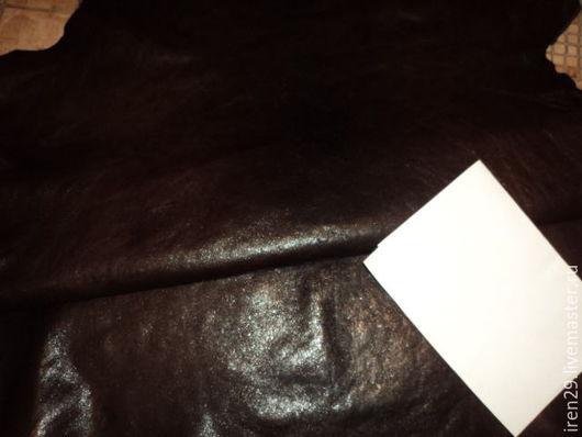 """Шитье ручной работы. Ярмарка Мастеров - ручная работа. Купить Натуральная кожа """"Горький шоколад винтаж"""". Handmade. Кожа"""