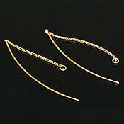 Материалы для творчества handmade. Livemaster - original item Earrings broach gold plated th. Korea (3684). Handmade.