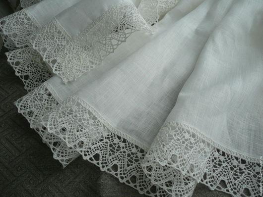"""Текстиль, ковры ручной работы. Ярмарка Мастеров - ручная работа. Купить Скатерть льняная """" Воздушная. Handmade. Белый"""