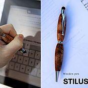 Ручки ручной работы. Ярмарка Мастеров - ручная работа Сенсорная ручка Стилус из дерева. Handmade.