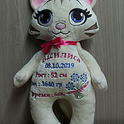 Мягкие игрушки ручной работы. Ярмарка Мастеров - ручная работа Кошка. Handmade.