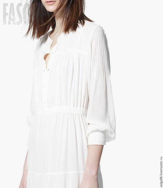 Платье белое в пол в стиле бохо `Freedom`