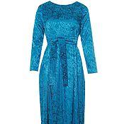 Одежда ручной работы. Ярмарка Мастеров - ручная работа Платье из жаккарда длинное. Handmade.