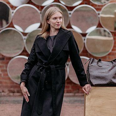 Одежда ручной работы. Ярмарка Мастеров - ручная работа Пальто из кашемира Loro Piano с  storm system. Handmade.