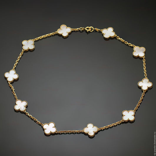 Колье, бусы ручной работы. Ярмарка Мастеров - ручная работа. Купить Колье Van Cleef & Arpels Vintage Alhambra. Handmade.