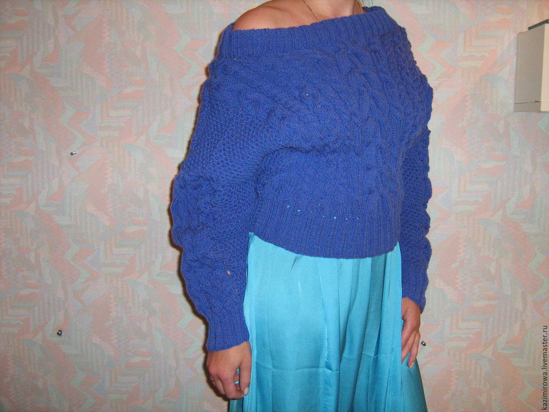 Свитер женский синий с доставкой