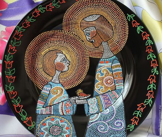 влюбленной паре свадебное торжество Тарелка декоративная сувенирная влюбленная пара подарок для двоих подарок на юбилей подарок на свадьбу на годовщину  годовщина свадьбы венчание