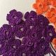 Аппликации, вставки, отделка ручной работы. Маленькие цветочки и листочки для скрапбукинга И декорирования одежды. Волшебные петельки (marysya2010). Ярмарка Мастеров.