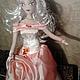 Коллекционные куклы ручной работы. Ярмарка Мастеров - ручная работа. Купить интерьерная кукла. Handmade. Розовый, кукла интерьерная, трикотаж