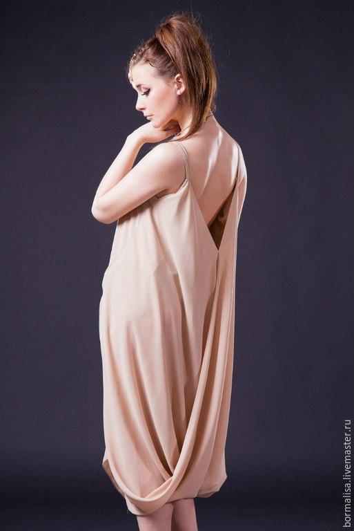 """Платья ручной работы. Ярмарка Мастеров - ручная работа. Купить Выпускное платье """"Афродита"""". Handmade. Бежевый, дизайнерское платье"""
