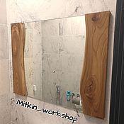Для дома и интерьера handmade. Livemaster - original item Mirror of elm slab. Handmade.