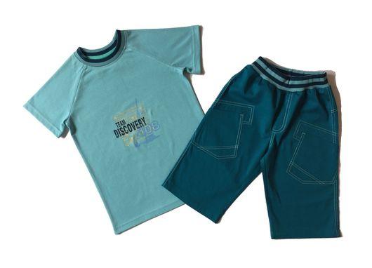 Одежда для мальчиков, ручной работы. Ярмарка Мастеров - ручная работа. Купить Футболка и бриджи. Handmade. Футболка, костюм для мальчика, кашкорсе