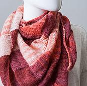 Аксессуары ручной работы. Ярмарка Мастеров - ручная работа Шаль Лоскутное одеяло (в розовом). Handmade.
