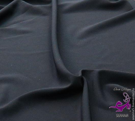 Шитье ручной работы. Ярмарка Мастеров - ручная работа. Купить Костюмная ткань черного цвета, отлично держит форму и стирается. Handmade.