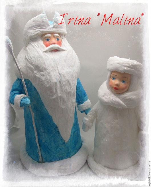 Сказочные персонажи ручной работы. Ярмарка Мастеров - ручная работа. Купить Дед Мороз Ватный Продан. Handmade. Синий