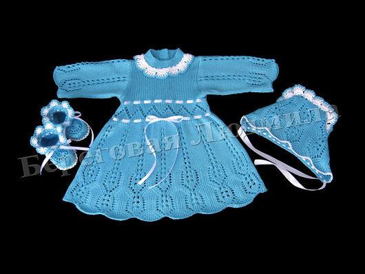 Одежда для девочек, ручной работы. Ярмарка Мастеров - ручная работа. Купить Комплект для девочки. Handmade. Тёмно-бирюзовый, комплект на выписку