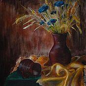 """Картины и панно ручной работы. Ярмарка Мастеров - ручная работа Картина """"Сельская романтика"""" (натюрморт с цветами). Handmade."""