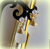 Украшения handmade. Livemaster - original item Earrings Quartz. Handmade.