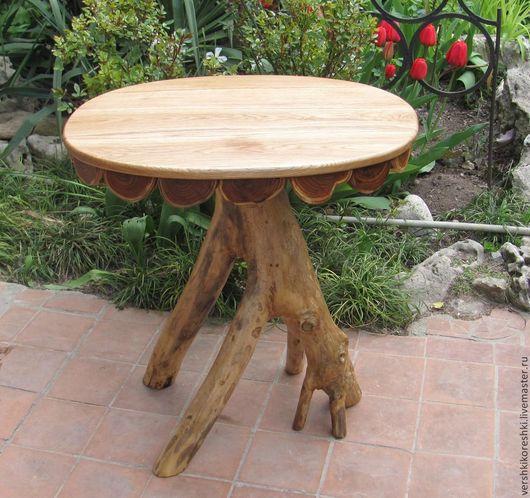 Мебель ручной работы. Ярмарка Мастеров - ручная работа. Купить стол, декоративный стол, столик. Handmade. Коричневый, столик из дерева