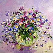 Картины и панно handmade. Livemaster - original item Oil painting on canvas. Pansy. Handmade.