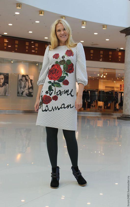 """Платья ручной работы. Ярмарка Мастеров - ручная работа. Купить Платье """"Самая гламурная"""" из неопрена Dolce Gabbana. Handmade. Белый"""