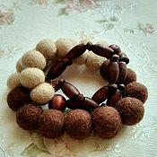 """Украшения ручной работы. Ярмарка Мастеров - ручная работа Бусы """"Шоколад"""". Handmade."""