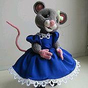 Мягкие игрушки ручной работы. Ярмарка Мастеров - ручная работа Мышка вязаная.Мышка крючком. Символ 2020.Мастер-класс мышки.Мыши.Мышка. Handmade.
