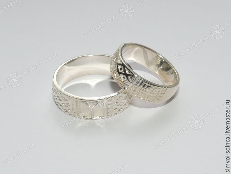 Rings Peace and Fertility (with or without blackening to choose from), Runes, Sochi,  Фото №1