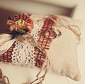 """Свадебный салон ручной работы. Ярмарка Мастеров - ручная работа Подушечка для колец """"Осень"""". Handmade."""