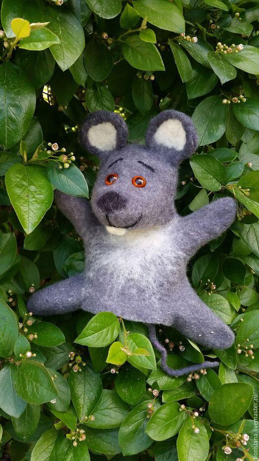 мышь бибабо, перчаточная мышь, мышь на руку, серый мышонок. мышь для кукольного театра. развивающая игрушка, мышонок игрушка, мышь бибабо. перчаточная игрушка, валяная игрушка. игрушка из шерсти
