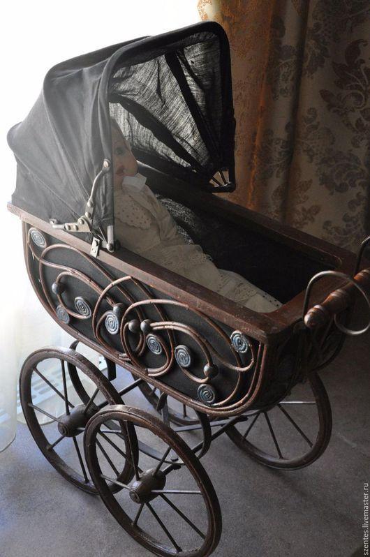 Винтажные куклы и игрушки. Ярмарка Мастеров - ручная работа. Купить Винтажная коляска. Handmade. Коричневый, фотосессия