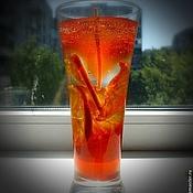 Сувениры и подарки handmade. Livemaster - original item Gel candle Campari in the glass (orange). Handmade.
