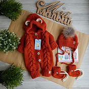 Комплекты одежды ручной работы. Ярмарка Мастеров - ручная работа Комплект для новорожденного. Handmade.
