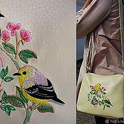 Классическая сумка ручной работы. Ярмарка Мастеров - ручная работа Женская сумочка с вышивкой. Handmade.