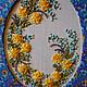 """Картины цветов ручной работы. Ярмарка Мастеров - ручная работа. Купить Вышитая картина """"Желтый веночек"""". Handmade. Вышитая картина"""