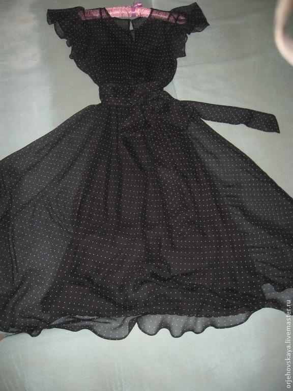 Шелковые юбки в горох