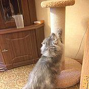 Зоотовары handmade. Livemaster - original item Column powerful for cats buy. Scratching post to order the right size. Handmade.