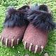Обувь ручной работы. домашние валяные тапочки из натуральной шерсти Медвежьи лапы. Кэт & Ко (6116466). Ярмарка Мастеров.